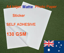 30 sheets A4 130GSM Inkjet Matte Photo Paper Sticker Adhesive