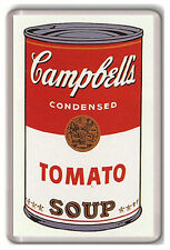 CAMPBELL'S TOMATO SOUP ANDY WARHOL FRIDGE MAGNET IMAN NEVERA