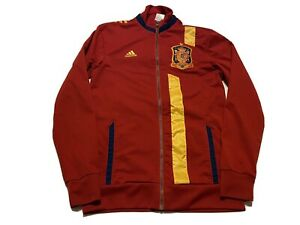 ADIDAS SPAIN ANTHEM TRACK TOP JACKET Red/Blue/Yellow Size S Soccer Football