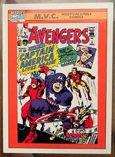 1990 Marvel Avengers Captain America card #136 PSA CGC CGS ready GEM MINT