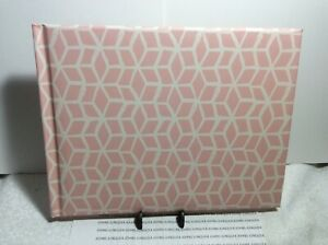 HALLMARK GUEST BOOK New w/tag Lined Pages Sign in Book Hard Covered Pink/white