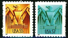 Art Deco Eagles Complete Set 2 High Denomination MNH Stamps Scott's 3471 & 3471A