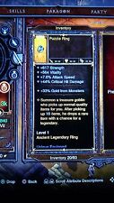 Diablo 3 ps4 Legendary  Puzzle Ring (lvl1) Access the VAULT Buy 2 Get 2 free