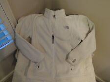 Girls North Face Fleece Jacket Zip Up Cream Size Large