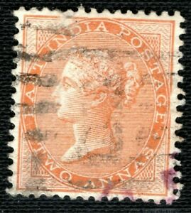 INDIA QV Stamp 2a Used ex Old-time Collection {samwells-covers} OBLUE2