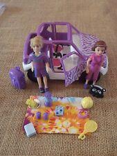 Polly Pocket Lot Dolls Jeep Car Vehicle Picnic Purple Boy Safari Accessories H80