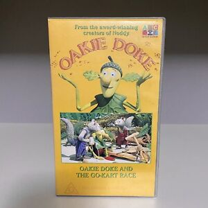 RARE 90s ABC For Kids 'OAKIE DOKE and The GO-KART Race' PAL VHS Video TAPE Noddy