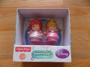 Fisher Price Little People Disney Princess Aurora & Pink Ariel Little Mermaid