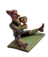 Musealer Christbaumständer Zwerg / Gnome aus Holz geschnitzt, 19. Jh.  (# 10934)