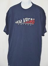 """Las Vegas Nevada Red White Blue Embroidered Blue T Shirt 2XL 48"""" Chest"""