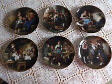 6 Sammelteller Die Meisterwerke des Franz von Defregger Lilien Porzellan