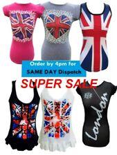 Ladies Union Jack T shirt Great Britain England United Kingdom London