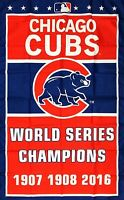 Chicago Cubs MLB World Series Championship Flag 3x5 ft Sports Banner Man-Cave