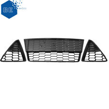 For Ford Focus S/SE 2012-2014 Honeycomb Mesh Front Bumper  3pc Grills