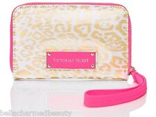Victoria's Secret Luxe WALLET CLUTCH iPhone 5/5S Gold Leopard & Pink, NWT