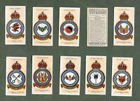 Tobacco cigarette cards set  R.A.F. Badges 1937 Royal Air force  set