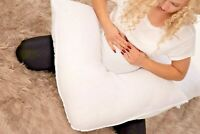 V Shape Pillow Cushion Pregnancy Maternity Nursing Back Support FREE CASE Cover
