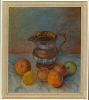 Mid 20th Century Oil - Still Life with Jug & Fruit