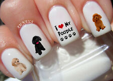 Poodle Nail Art Stickers Transfers Decals Set of 52