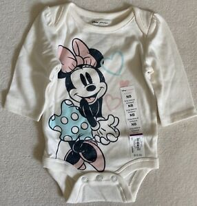 Minnie Mouse Baby Girls Bodysuit and Pink Pants Size Newborn New With Tags