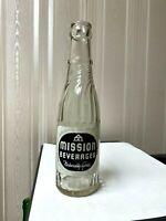 Vintage Soda Pop Beverage Bottle - Mission Beverages, 7 Oz - Newcastle, Maine
