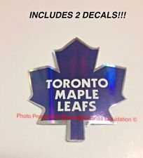 Toronto Maple Leafs NHL Logo Die-Cut Sticker Decal ! Gloss Glossy Finish 2 PACK