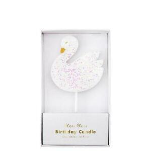 Meri Meri Large Swan Candle Decorations Birthday Topper Baking Animal Party Cake