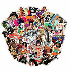 Sexy Girls Skateboard Stickers 10 pcs Rude Adult Mixed Funny Phone Stickerbomb