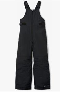 NWOT Columbia Youth Boys Snowslope II Bib, Black Size XL