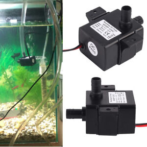 Ultra-quiet Water Pump 12V 3.6/5W 240L/H Micro Brushless Waterproof Fish Tank