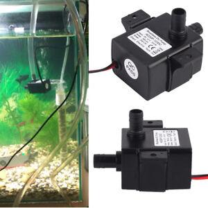 Ultra-quiet Mini Water Pump 12V 3.6/5W 240L/H Micro Brushless Waterproof