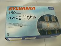 Sylvania 150 Outdoor Swag Lights Clear MULTI-COLOR Wire 10.75 feet (3.2M) Approx