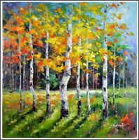 Gallery Stretched, Russian Impressionist Landscape, Signed Original Painting