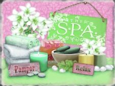 The SPA Sign, Pamper Relax Bathroom Home Gift Decor Large Metal/Steel Wall Sign