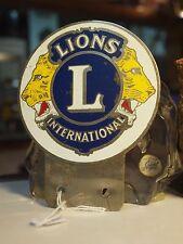 LIONS INTERNATIONAL CAR BADGE / AUSSIE STOCK !