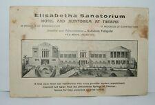 palestine Israel antique HOTEL ELISABETHA Sanatorium Tiberias RARE postcard