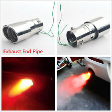 1 Pcs Car 63mm Exhaust End Pipe Tail Throat With Fire Shining Warning Red Light