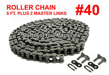 ROLLER CHAIN #40 W/ TWO MASTER CONNECTING LINKS, 5 FT.,GO KARTS, MINI BIKES