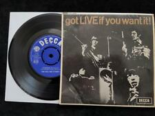 "THE ROLLING STONES - Got Live If You Want It EP  1965 UK Export 7""  SDE 7502 VG+"