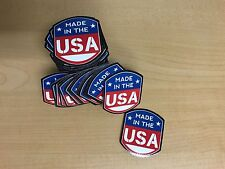"""Made in America (C) Decals 2"""" x 2"""" 100 pack (Free Ground Shipping)"""