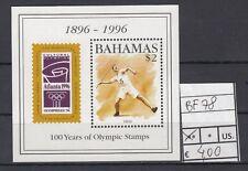 Bahamas 1996 Foglietto 100 anni di francobolli olimpiciYvert  78 MNH