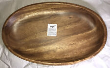 """Handcrafted Acacia Wood Oval Tray 16""""L /10""""W/1.5""""H"""