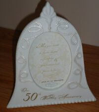 50th WEDDING ANNIVERSARY Photo Frame...white wedding bell Elegance by Amscan
