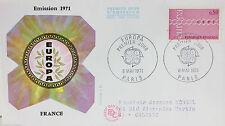 ENVELOPPE PREMIER JOUR - 9 x 16,5 cm - ANNEE 1971 - EUROPA LA FRANCE
