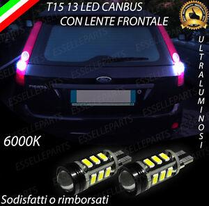 LAMPADE RETROMARCIA 13 LED T15 W16W CANBUS FORD FIESTA V RESTYLING NO ERROR