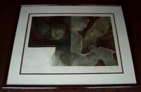 SUNOL ALVAR Embossed Color Lithograph Hand Signed W/ Beautiful Custom Frame
