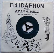 "7"" 45 rpm Arabic MOHAMED ABDEL WAHAB Jafnouhou / Oujiba NM rare Baidaphon 1960's"