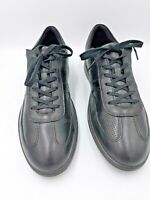 ECCO Black Leather Casual Comfort Lace Up Fashion Sneakers Men's US 13 EUR 46
