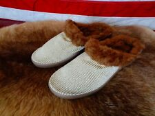NEW ARCOPEDICO WOMENS 3 SLIPPERS GOLD CLOG LIGHT SHOES ARCH SUPPORT FUR LINED