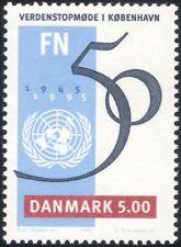 Dinamarca 1995 50th aniversario de las Naciones Unidas/cumbre mundial de las Naciones Unidas, Copenhague 1v (n20909)